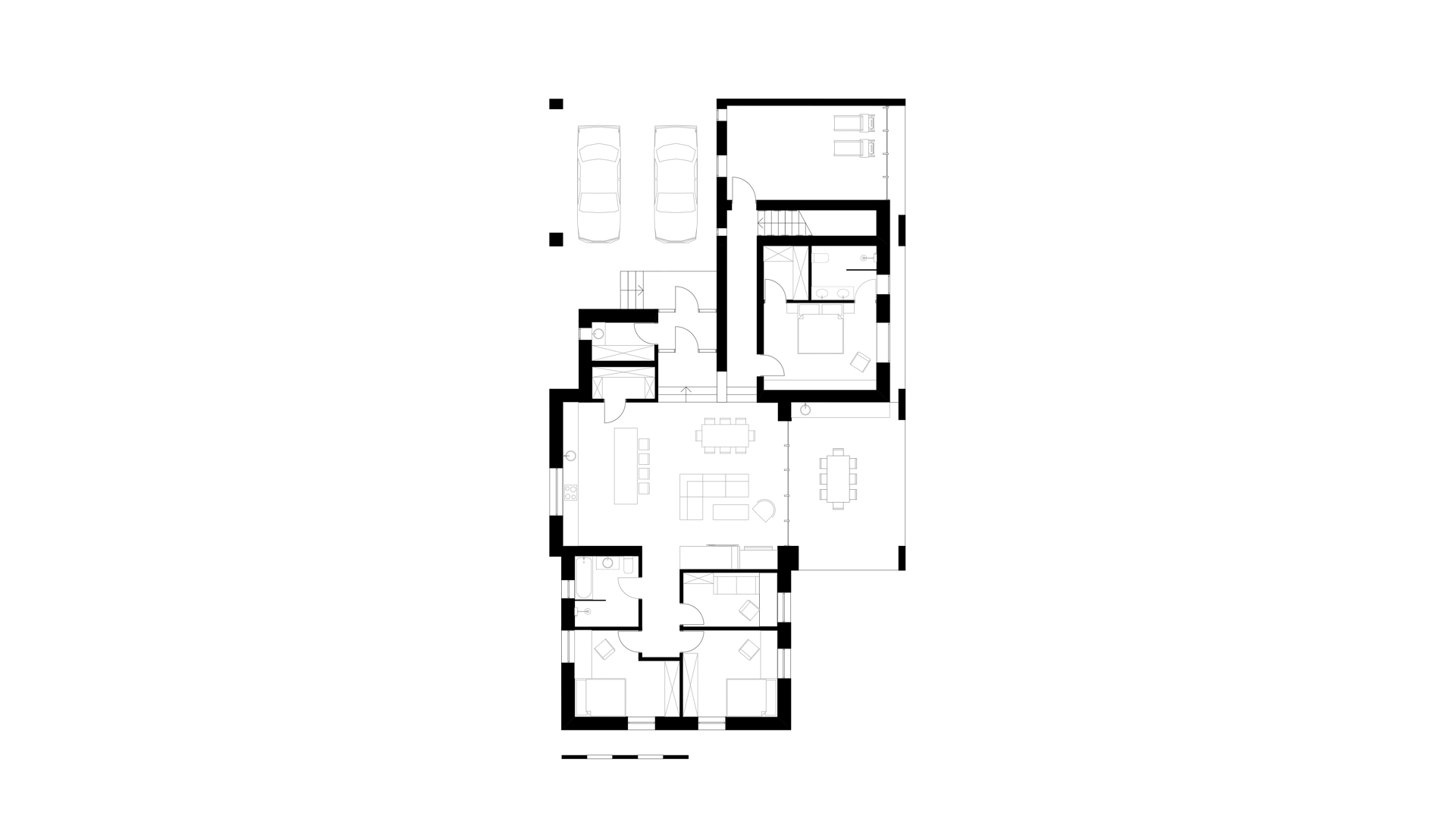 modern layout of a private house photo