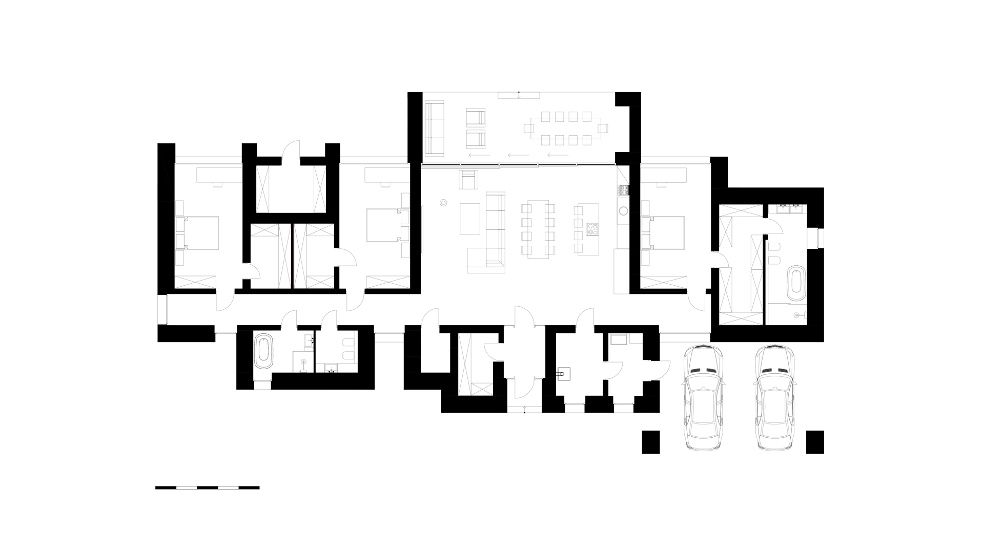 the layout of a private house