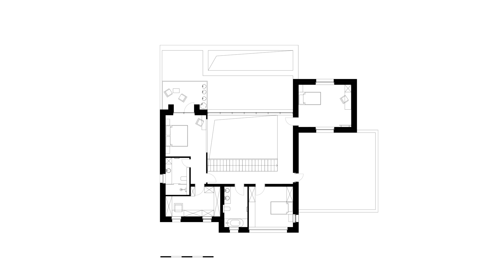 the layout of the cottage