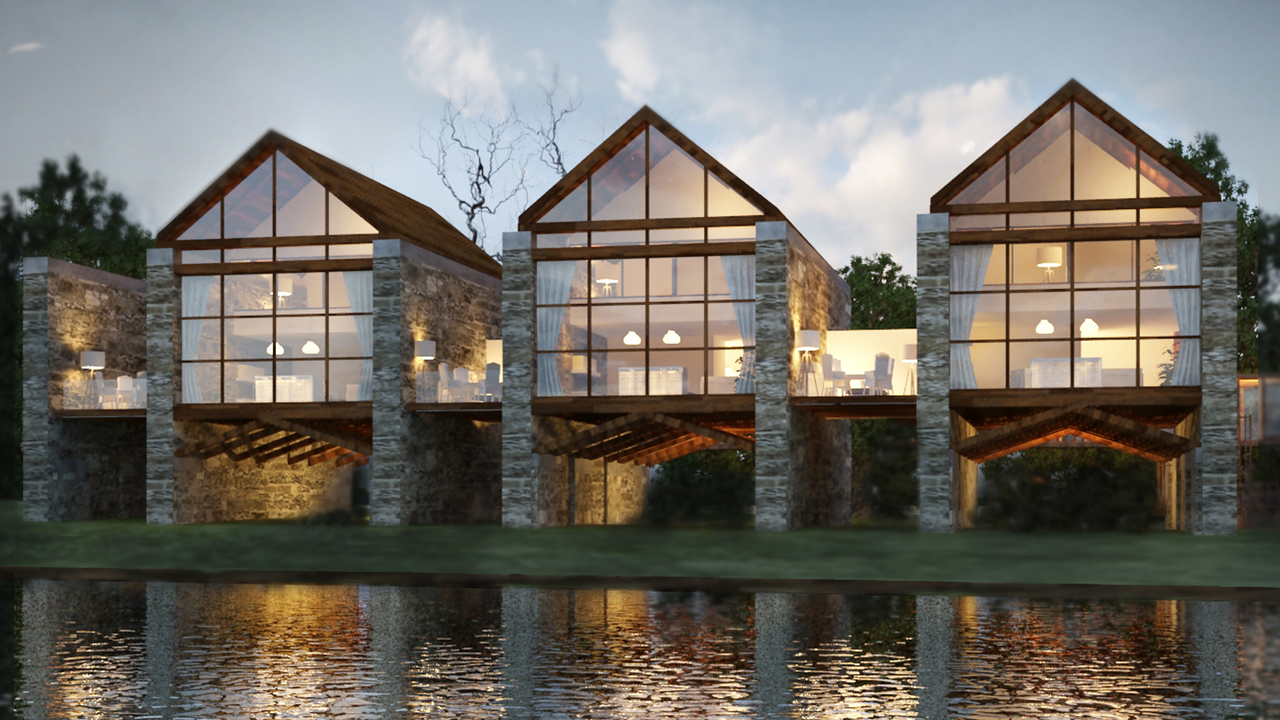 architectural project of country complex